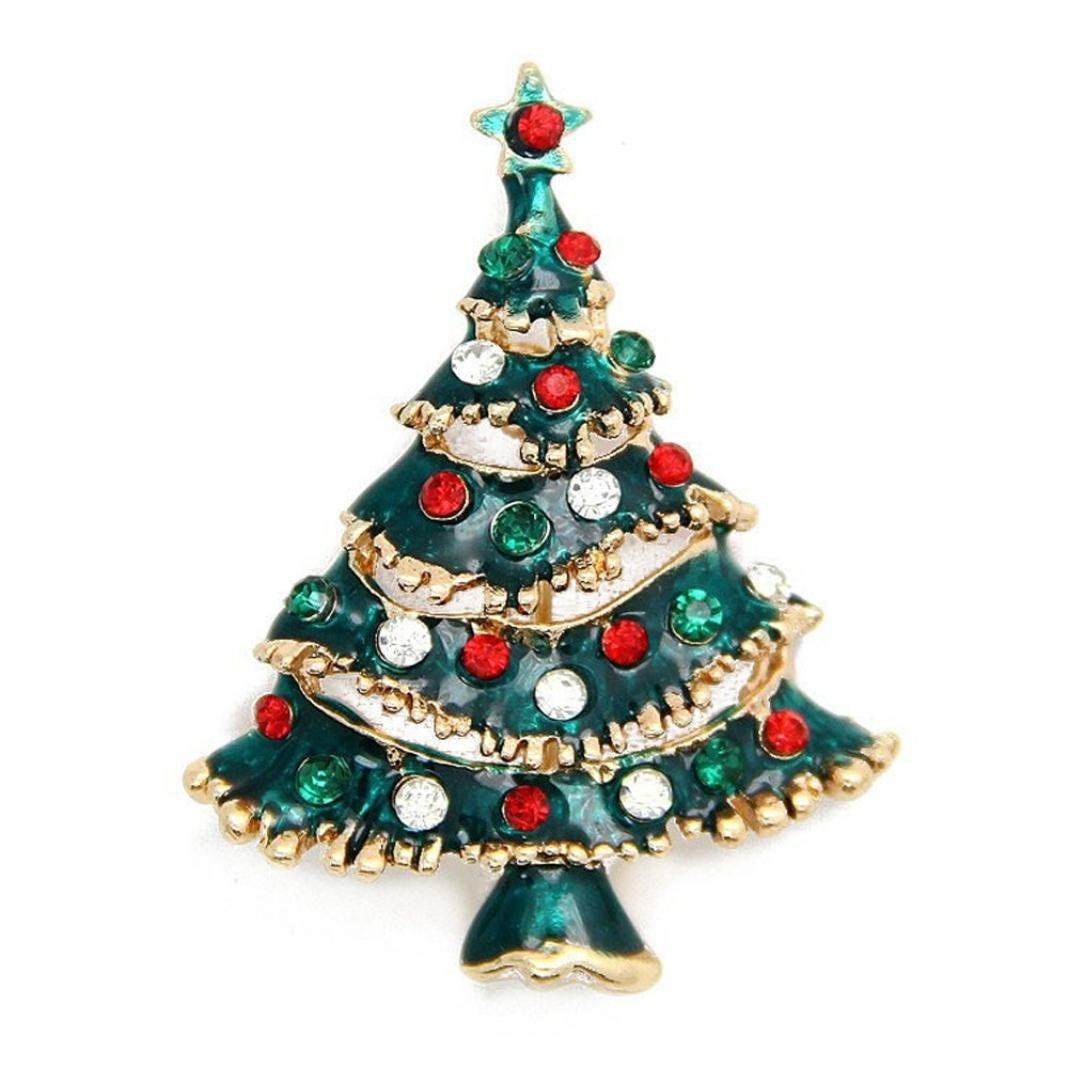 YIWULA Christmas Tree Brooch Pin Xmas Gift