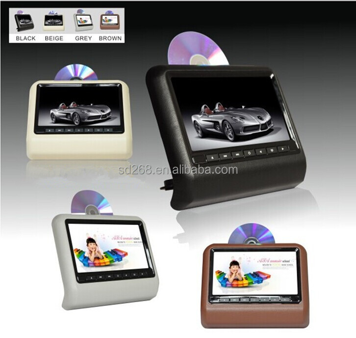 Hd Display 9'' Car Headrest Mount Portable Dvd Player