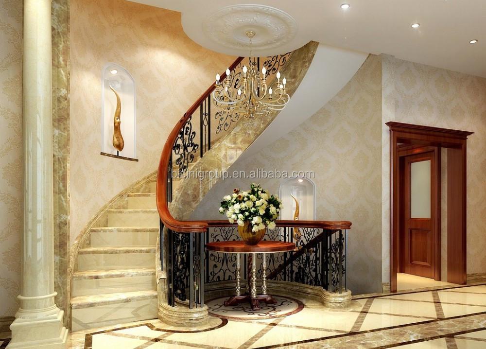 Européenne Du0027escalier Intérieur Pour Villa De Luxe Noble Maison Design Du0027 Intérieur Plan