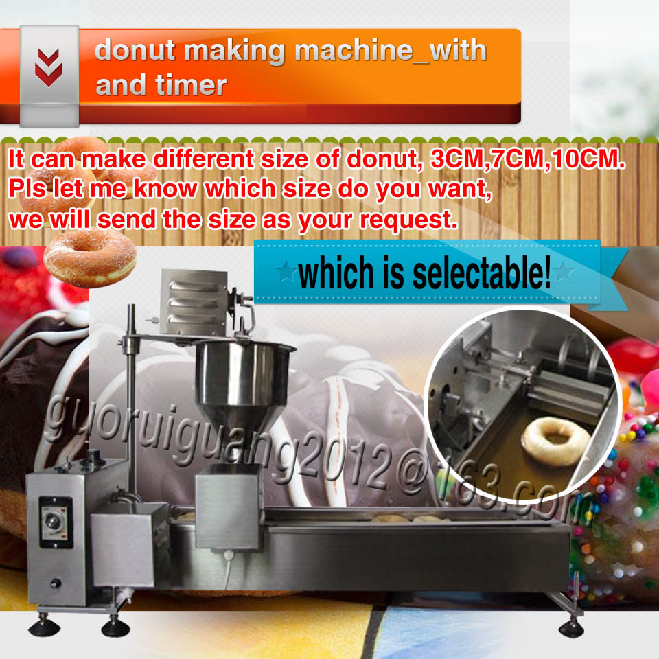 Stainless Steel Industrial Donut Machine mini donut maker machine, 2cm,7cm,10cm with one mould without counter