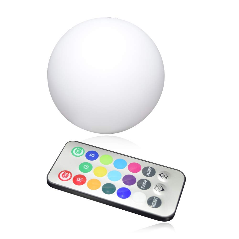 Lywhome Night Lights Seven Colors Remote Control LED Moonlight Mini LED Table for Kids Baby Bedroom Decoration,15Cm
