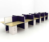 office cluster desk, cubicle partition group