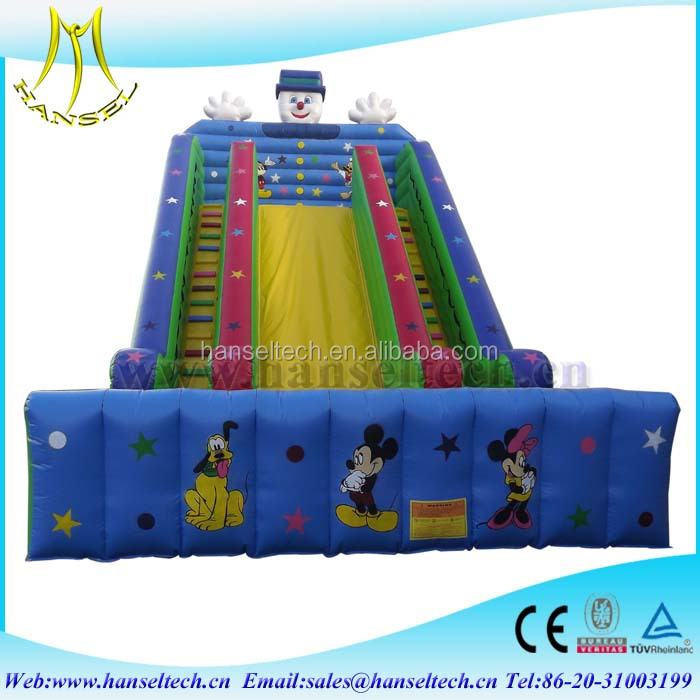 Hansel colourful kids playing inflatable toy inflatable water park kids outdoor play equipment