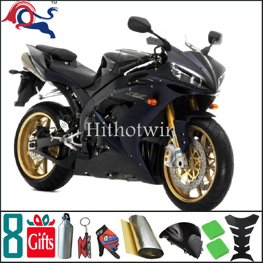 2007 2008 YZFR1 black yellow R1 ABS Plastic Fairing Fit For yamaha YZF R1 2007 2008 YZF-R1 2007 2008