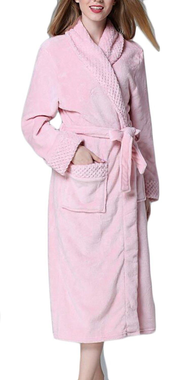 Get Quotations · Emastor Womens Winter Bathrobe With Bathrobe Plush Coral  Velvet Robes c9a6ec31c