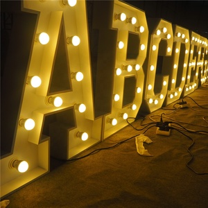 professional factory custom large vintage outdoor metal signs marquee led light up bulb 4ft marquee letters love