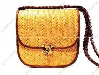 Thailand Width Wood Sling Shoulder Krajood Bag Handmade - Buy