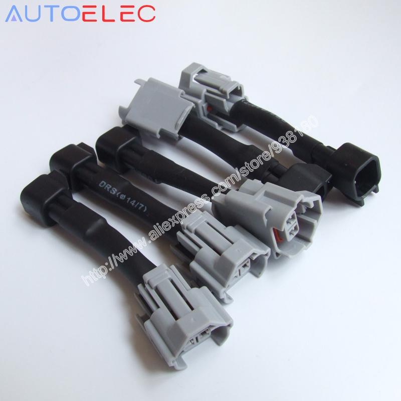 100 шт. 2pin способ EV1 инжектор разъем адаптера жгут проводов женский nippon / denso ev6 для VW