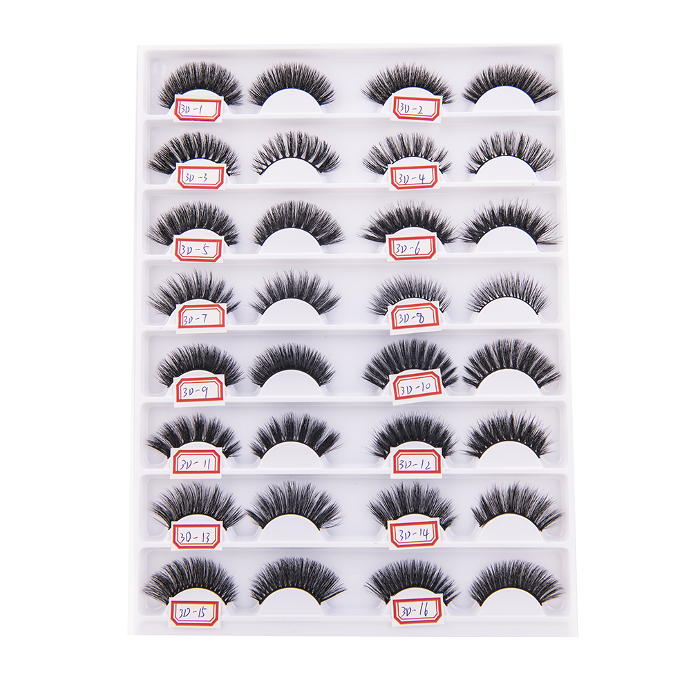 Wholesale New Design Lovely Clear Invisible Band 3d Silk Mink Lashes