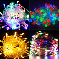 220V led string lamps connectable christmas fairy light with control box