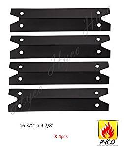 Hyco hy97311 (4-pack) Porcelain Steel Heat Plate Replacement for Select Gas Grill Models by Brinkmann, Charmglow and Others by Hyco