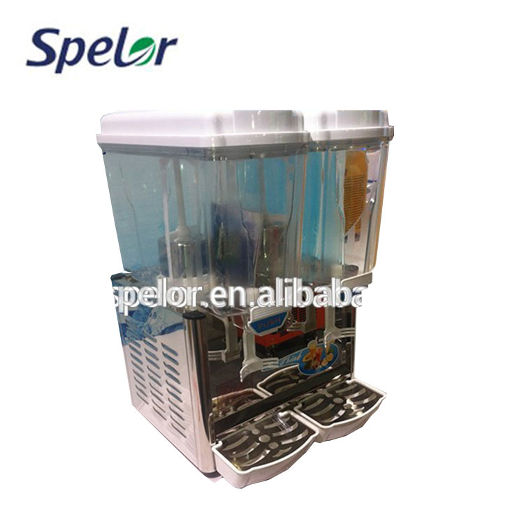 Double Tanks Commercial Cold Juice Dispenser Beverage Cold Dispenser