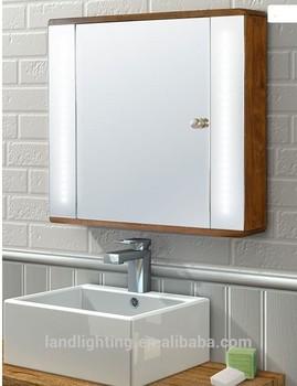 Illuminated Beech Backlit Bathroom Mirror Cabinet With Led Light ...