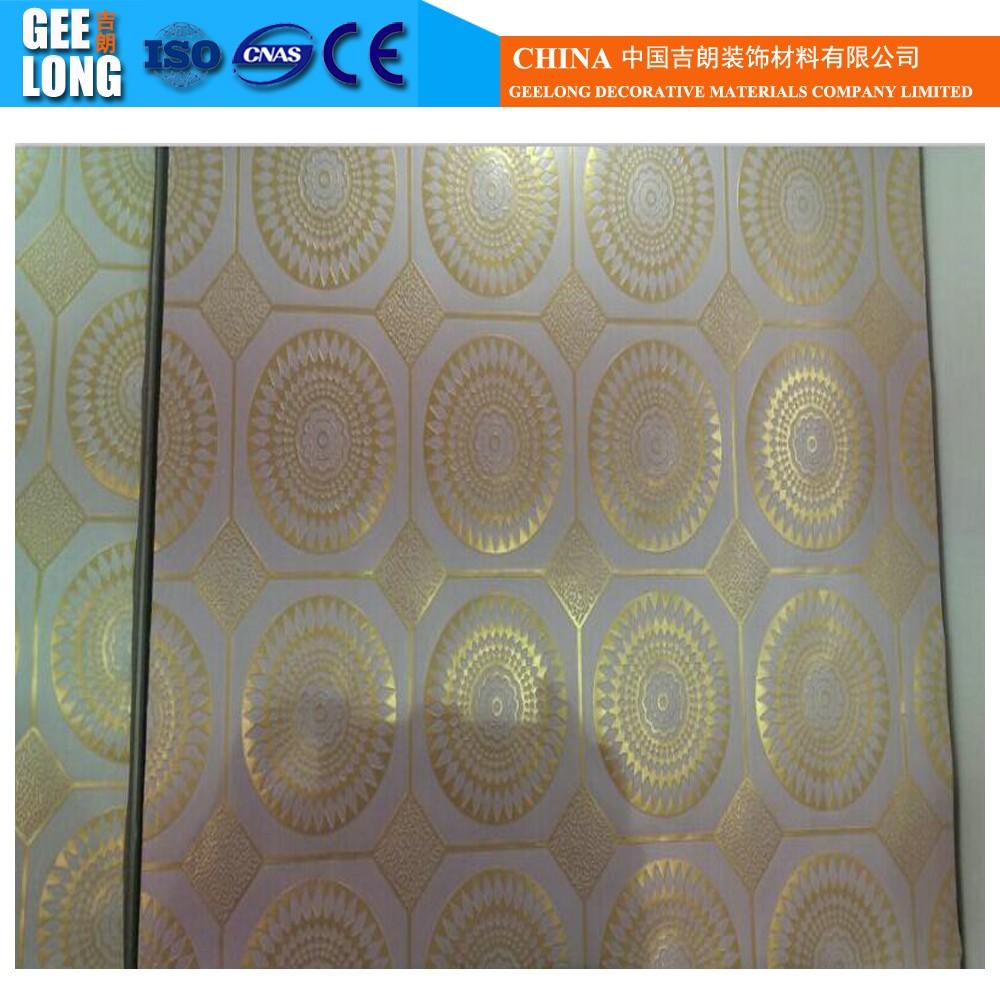 Classique blanc pvc plaques de plâtregypse carreaux de plafond pour la décoration intérieure