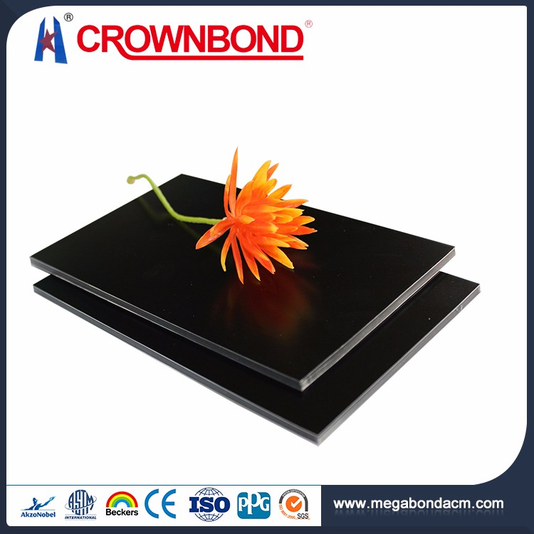 Crownbond 2mm 3mm 4mm 5mm 6mm acp sheets black,acp, guangzhou aluminum composite panel