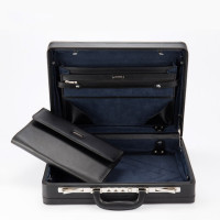 THORNFIELD Leather Briefcase Businesscase Portable Password Box