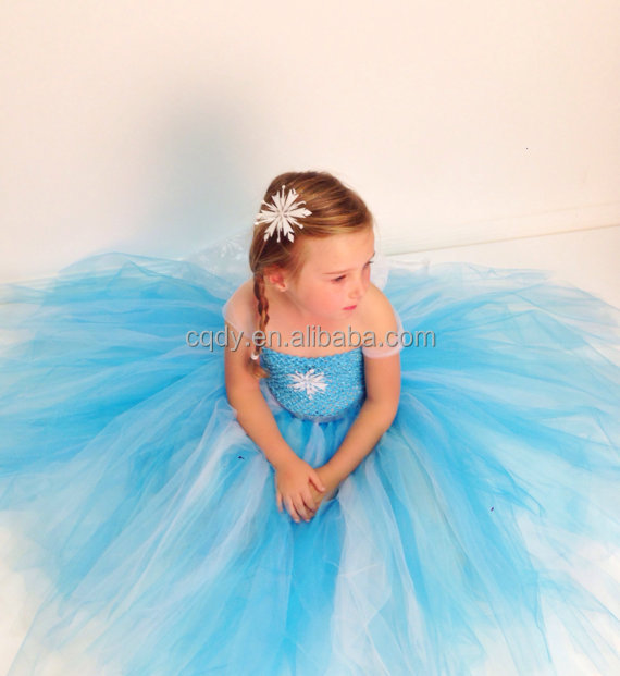 84d3f332d8 2018 new style frozen elsa princess tutu dress   sister anna costume tutu  flower girl dress