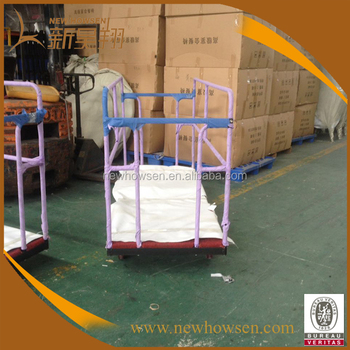 Steel Banquet Round Table Trolley For Hotel And Restaurantglass