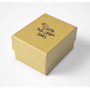 Simple Eco-friendly Kraft Paper Packaging Two pieces Jewelry box