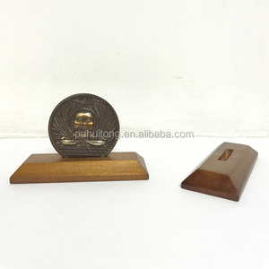 wooden commemorative coin display base