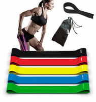 5 sets loop resistance Bands of 5 levels for Men and Women Home Gyms ,Yoga ,Pilates ,Physical