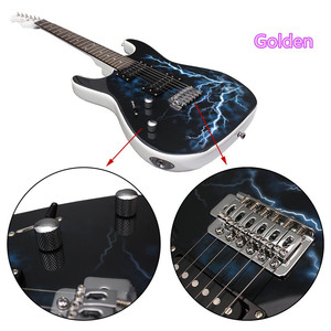 New Type High Quality Lightning Pattern Electric Guitar