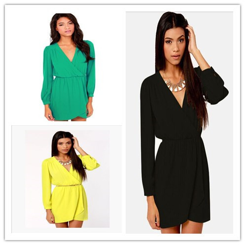 0f074f388 Get Quotations · Robe Ete 2015 Summer Style Fashion Casual Desigual Above  Sexy Playa Party Dress Verano Chiffon V