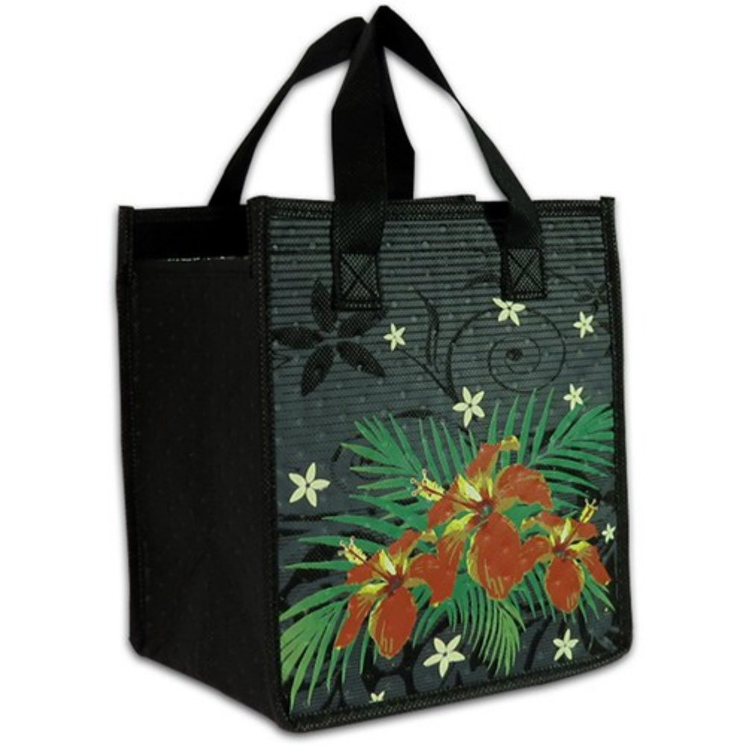 Buy Hawaiian Hibiscus Medium Insulated Lunch Tote Bag In Cheap Price