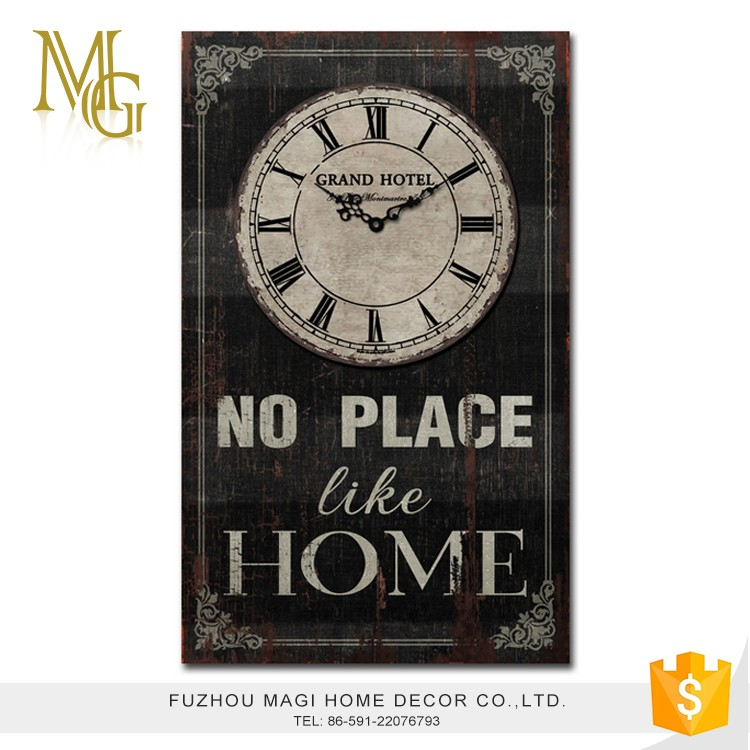 High quality home decoration antique black mechanical wall clock