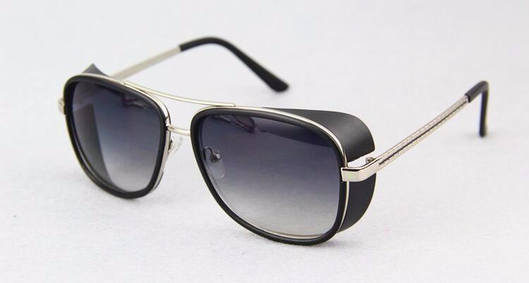 0daa07b159c60 Masculino Steampunk Óculos De Sol Tony Stark Homem De Ferro Matsuda Óculos  De Sol Retros Do