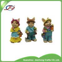 wholesale garden figurine souvenirs polyresin rabbit crafts