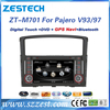 7 inch double din car stereo dvd player gps car head unit, radio for mitsubishi pajero/