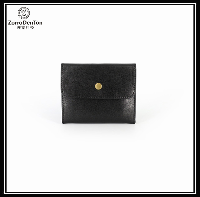 Cstomized handmade small leather coin purse men manufacturer