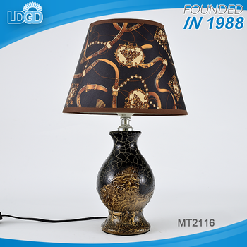 ae07064b4a128 Modern guest room decorative table light cheap price ceramic electric table  lamp with nice flower fabric