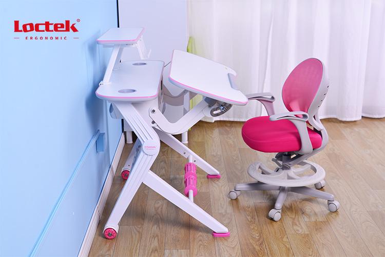 Loctek CD002 gas spring lift table sit stand desk adjustable height table children kids study desk