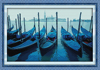 Venice boats needlepoint gifts canvas dmc cross stitch embroidery kits