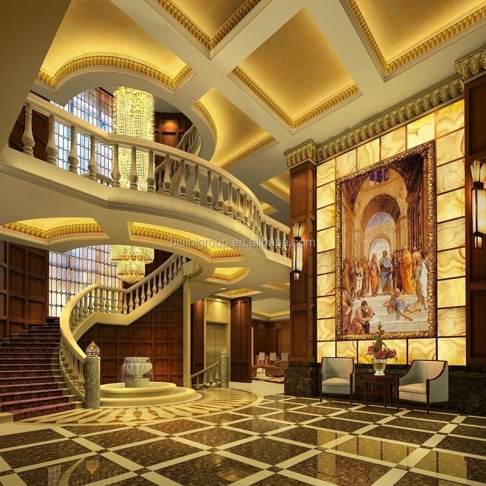 النيو كلاسيكية النمط الفرنسي 3d تصميم لغرفة المعيشة و