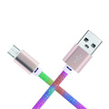 New Design Rainbow Micro USB Cable USB Data Cable Android
