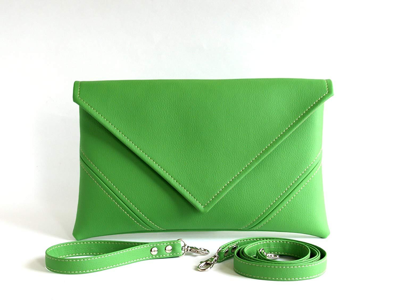 Get Quotations Handmade Bridesmaid Clutch Purse Green Wedding Bag Bridal Handbag Vegan Leather Handbags