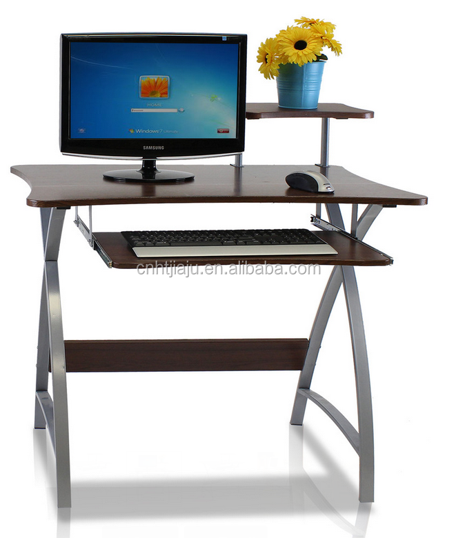 furinno fnbl besi office computer desk , metal legs & chrome legs coputer desk