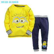 Bear Leader Baby boy clothes 2016 New despicable me 2 minion boys girls clothes hoodies + casual long pants 2pc clothing sets