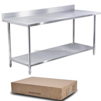 stainless steel kitchen furniture food preparation table for restaurant