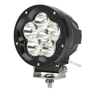 4.9inch 60W LED Driving Light Round Spot/Combo Beam High Power LED Work Light for 4x4 Off-road SUV RV Jeep Wrangler