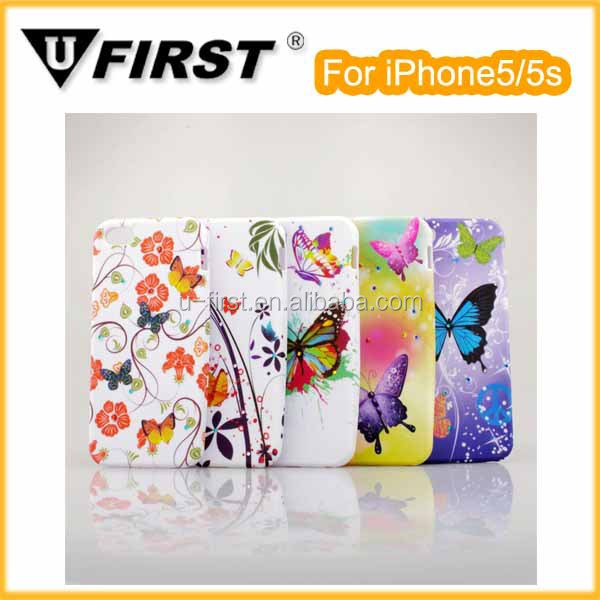 Various pattern design PC cover hard case for iphone5/5s