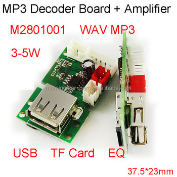 Wav Mp3 Decoder Board With Amplifier Board Decoding Of Lossless Music With  Usb Tf Card Ultra-small Size Power And Memory Modules - Buy Mp3 Decoder