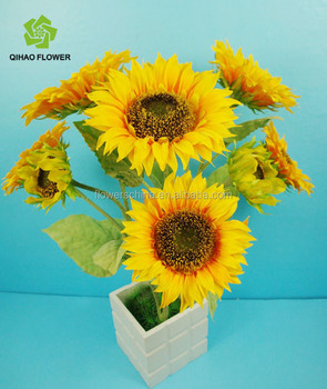 Foshan Factory Artificial Flower Sunflower With Big And Small ...