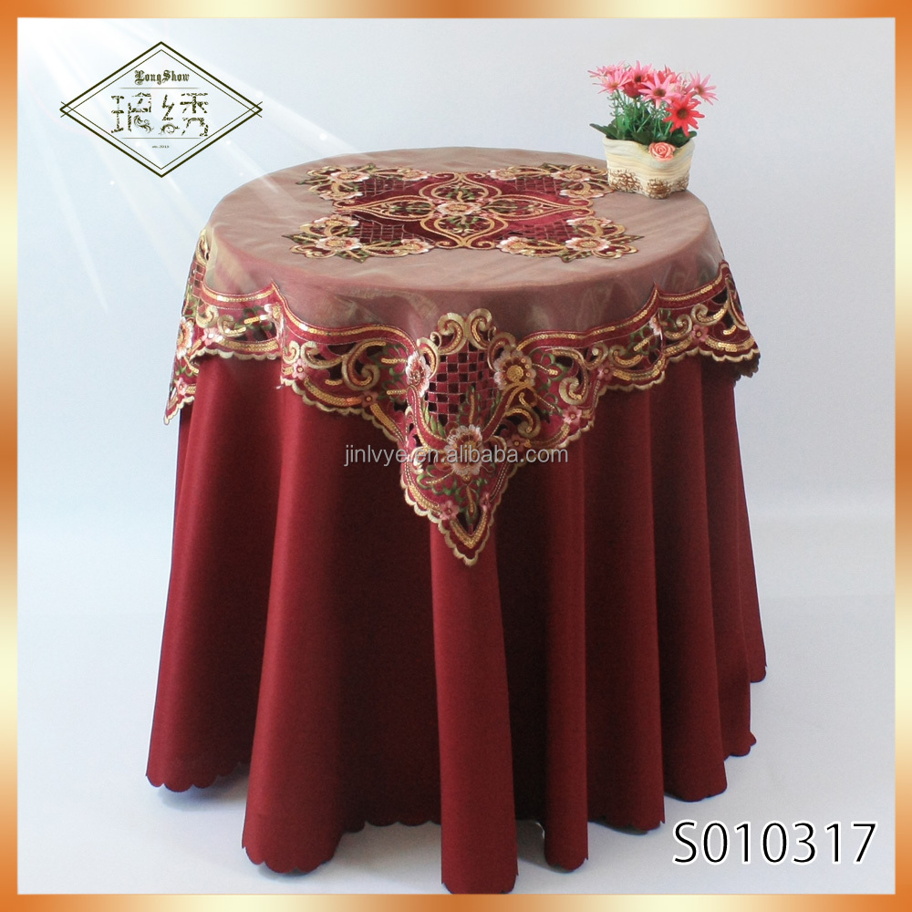 2017 Newest Design Luxury Baquet Dining Tablecloth With Sequin