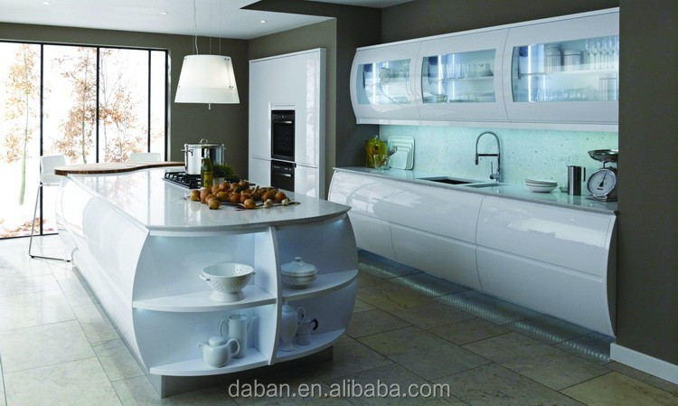 Pintura de alto brillo mdf mueble cocina de diseño cocinas ...