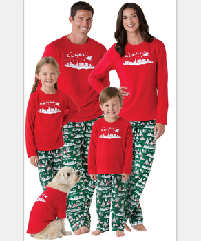 6688c1abb208 Family Look Sets Christmas Pajamas Matching Mother Daughter Clothes Father  Son Mom Family Christmas Pajamas Family