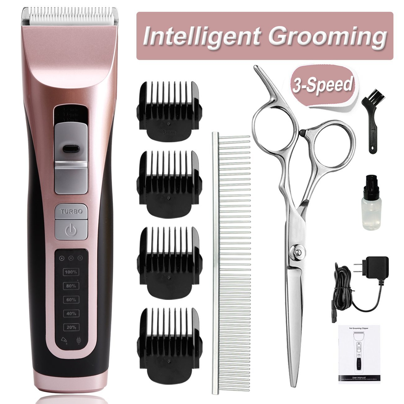 Get Quotations Cyrico 3 Sd Dog Clippers For Thick Coat Grooming Kit Professional Heavy Duty